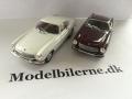 Volvo P1800 1969 Modelbiler - Hvid Atlas og rød Minichamps