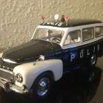 1956 Volvo 445 Duett polis modelbil